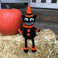 Vintage Inspired Halloween Cat