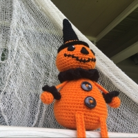 Vintage Inspired Halloween Pumpkin