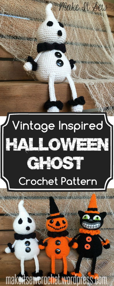 Vintage Inspired Halloween Ghost Crochet Pattern Make It Sew Crochet Blog