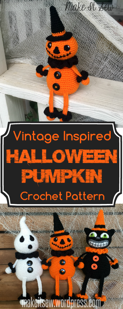 Vintage Inspired Halloween Pumpkin Crochet Pattern Make It Sew Crochet Blog