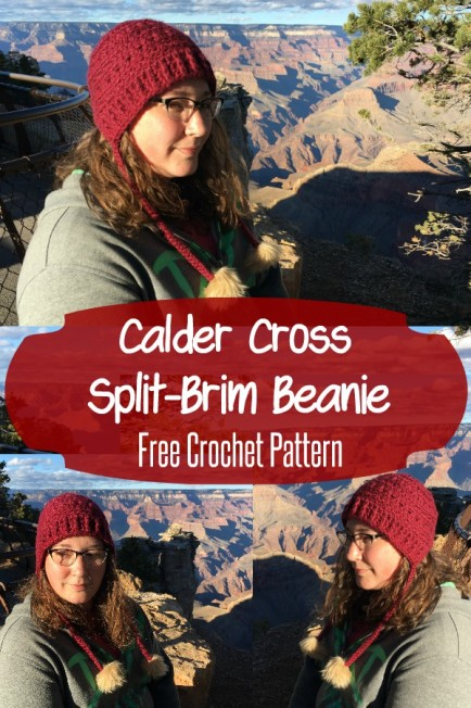 Calder Cross Split-Brim Beanie Split Brim Hat Free Crochet Pattern Make It Sew Crochet Blog