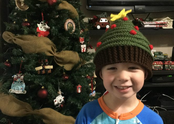 Christmas Tree Hat.Oh Tannenbaum Christmas Tree Hat Free Crochet Pattern
