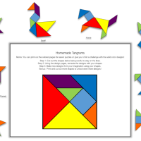 Homemade Tangram Animals